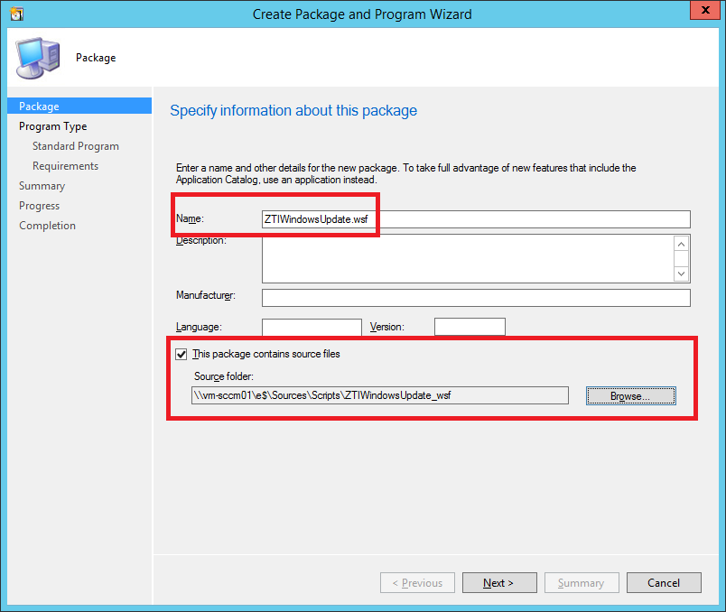 "Create Package with ""ZTIWindowsUpdate.wsf"" and ""ZTIUtility.vbs"" (2)"
