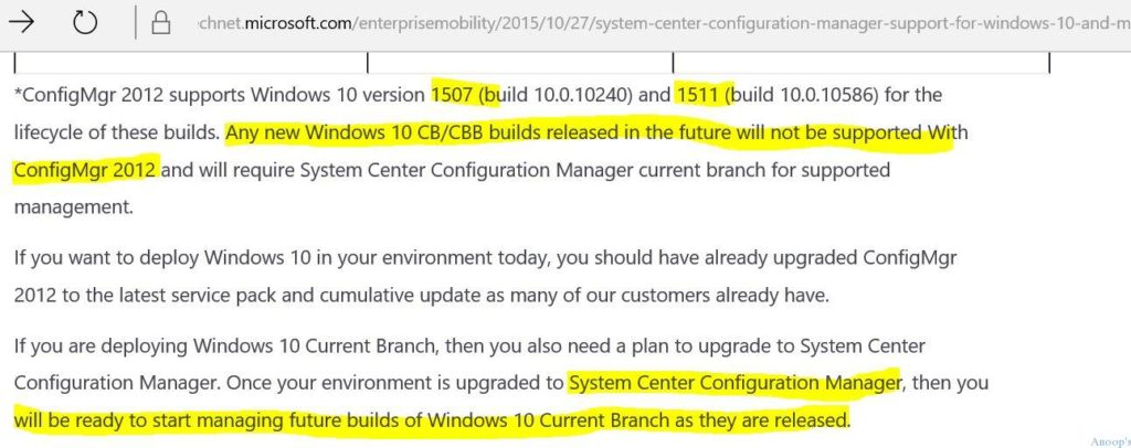 Quelle: https://www.anoopcnair.com/2016/08/03/sccm-2007-2012-support-for-windows-10-anniversary-update-1607/